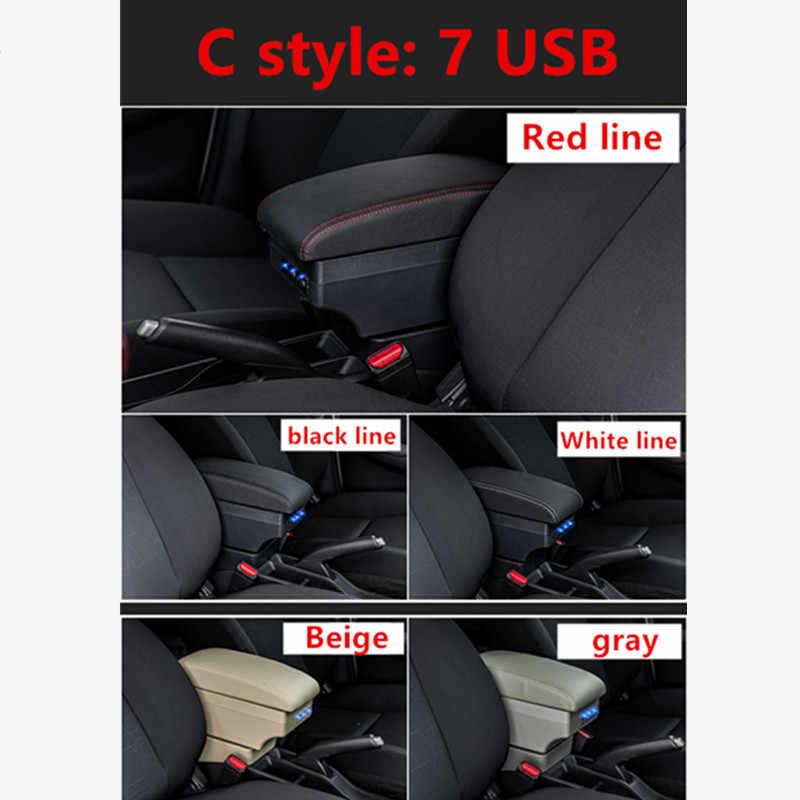 لرينو كليو 3 كابتور صندوق مسند الذراع صندوق تخزين مركزي مع واجهة USB