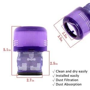 Image 4 - Zubehör Filter für Dyson V11 Sv14 Drehmoment Stick Cordless Stick Staubsauger Ersatz Teile Pack Von 2 Pcs Hepa Filter R