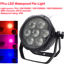 LED Waterproof Par 7x18W RGBWA+UV 6IN1 Lighting Professional For Stage Effec Atmosphere Disco DJ Music Party Club Dance Floor cheap Yuer Stage Lighting Effect DMX Stage Light 70W 105W 126W YC0070 AC100-240V 50 60Hz Professional Stage DJ 7Pcs LED Waterproof Par Light