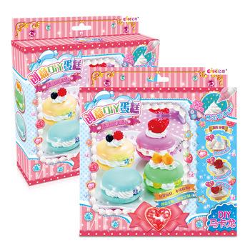 EAKI oryginalna symulacja ciasto z kremem DIY ręcznie robione ciasto zabawki edukacyjne dla dzieci zabawki dla dziewczynek sztuka i rzemiosło na miękkie zabawki tanie i dobre opinie jewedsr 2 ~ 4 Lat 5 ~ 7 Lat 8 ~ 13 Lat 14 Lat i up Rainbow papieru Chiny certyfikat (3C) Zwierzęta i Natura Can not eat