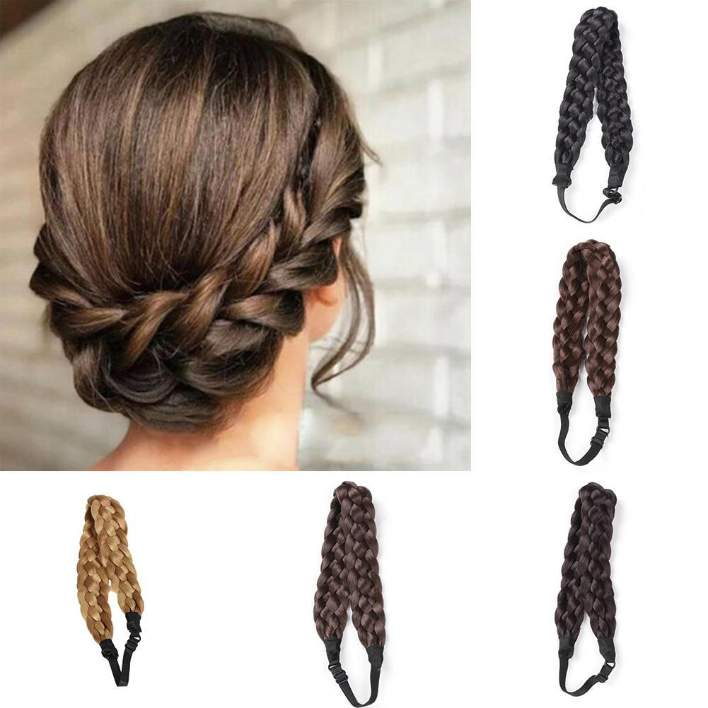 Synthetic Wig Twist Hair Bands Fashion Wedding Bride Braids Hair Accessories Women Lady Bohemian Plait Elastic Stretch Headband