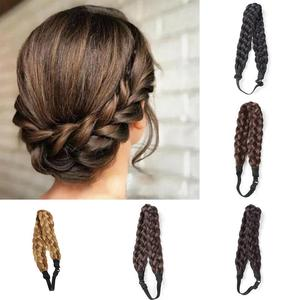 Synthetic Wig Twist Hair Bands Fashion Wedding Bride Braids Hair Accessories Women Lady Bohemian Plait Elastic Stretch Headband(China)
