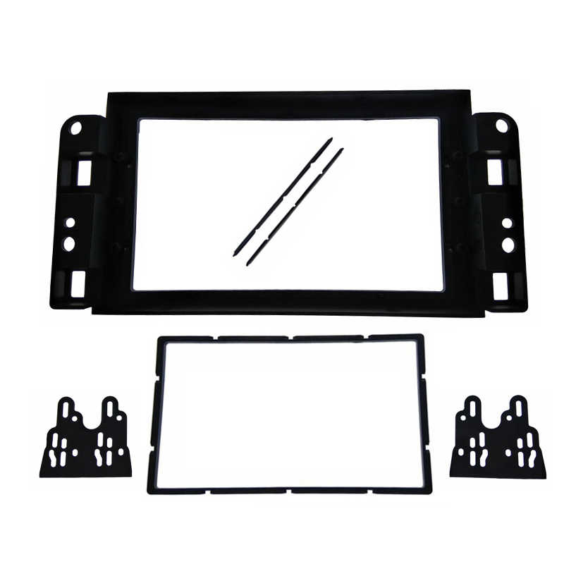 2Din Fascia fit for Chevrolet Aveo Lova Captiva Gentra Radio DVD Stereo Panel Dash Mounting Installation Trim Kit Frame Bezel