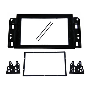 2Din Fascia fit for Chevrolet Aveo Lova Captiva Gentra Radio DVD Stereo Panel Dash Mounting Installation Trim Kit Frame Bezel(China)