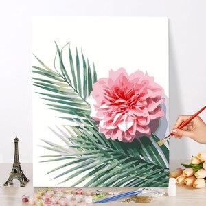 DIY картина маслом по номерам, цветы, пейзаж, живопись, каллиграфия, живопись на холсте для домашнего декора, рукоделие, детские игрушки