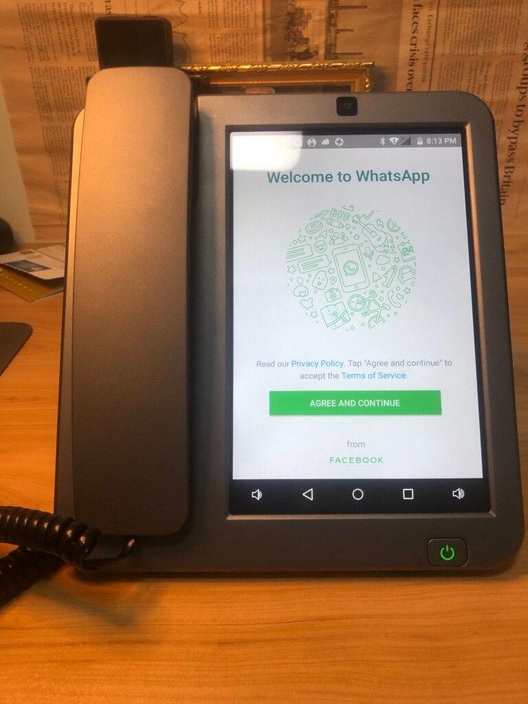Android LTE fixe sans fil fixe 4G SIM réseau visiophone glob universel personnes âgées WIFI vidéo téléphone portable bureau à domicile - 4