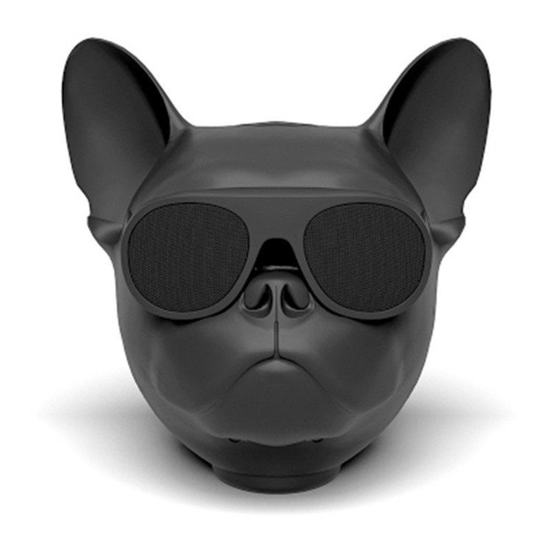 fashion portable Aero bull dog Bulldog <font><b>Bluetooth</b></font> 4.1 wireless <font><b>speaker</b></font> stereo subwoofer speakerphone compatible TF card image