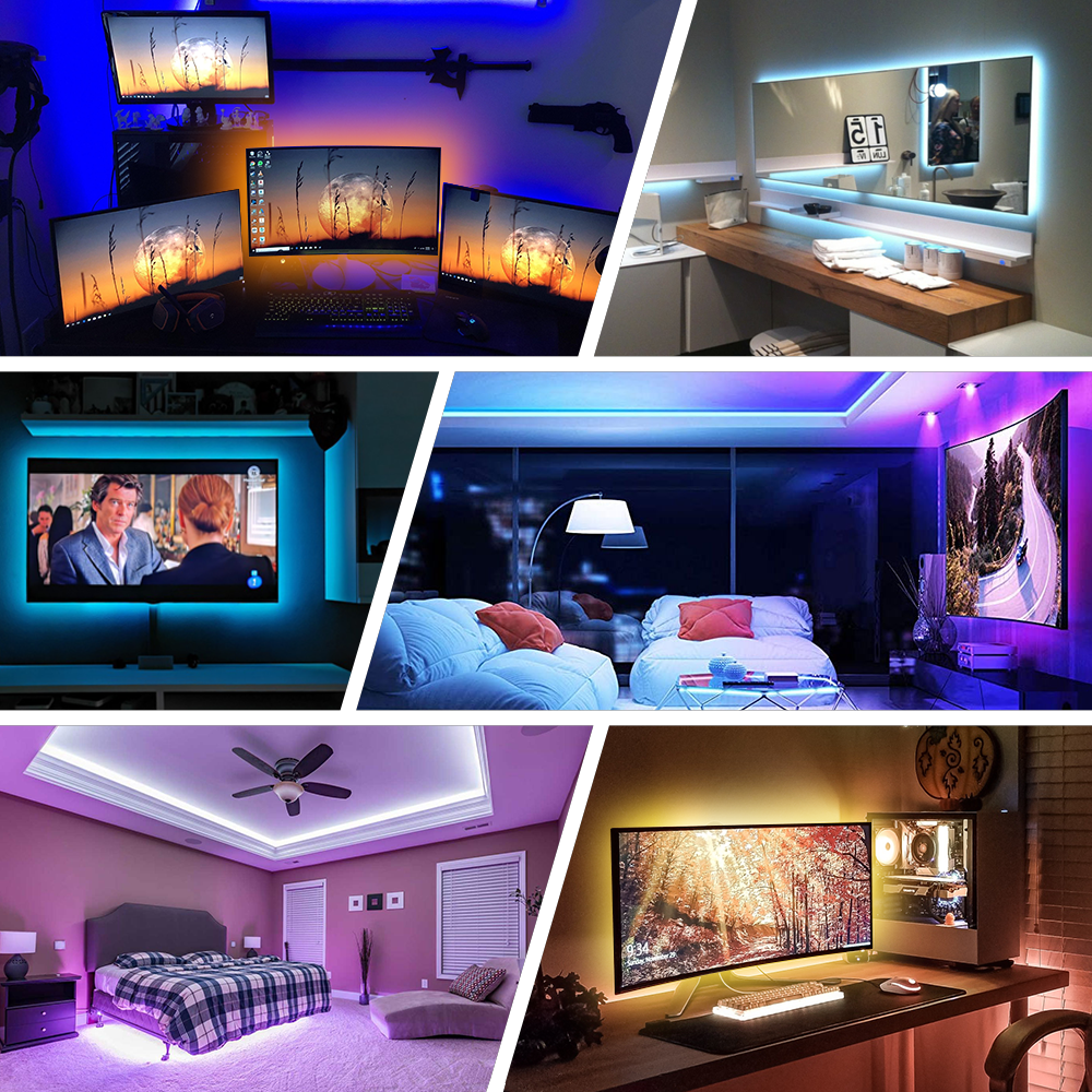 LED Strip Light,Bluetooth APP Control, LED TV Light,5V USB Bluetooth RGB Tape Lamp For TV Background Decoration 5