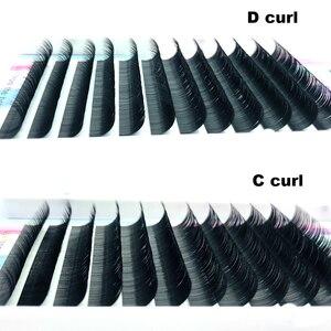Image 2 - Darmowa wysyłka nowe wszystkie style płaskie elipsy przedłużanie rzęs podzielone porady elipsy w kształcie naturalny jasno fałszywe rzęsy elipsy
