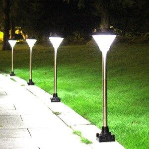 2/4/6 шт., солнечная зарядка, уличный водонепроницаемый садовый светильник, светодиодный газонный светильник, газонный светильник, полюсный с...