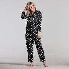 pyjama femme pour femmes printemps automne pyjamas women pijamas women ensemble nouveau à manches longues vêtements de nuit loisirs amples imprimé pyjamas pour les femmes mignon vêtements de nuit