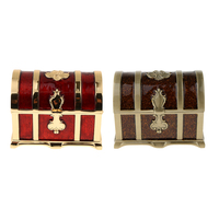 Rectangle Vintage Soft Enamel Treasure Chest Trinket Jewelry Box Case Holder
