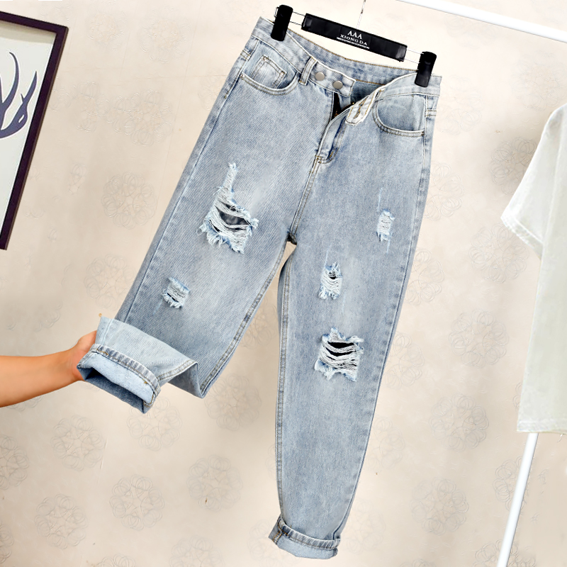Ff1006-1 2019 New Autumn Winter Women Fashion Casual Denim Pants High Waisted Jeans Womens Jeans