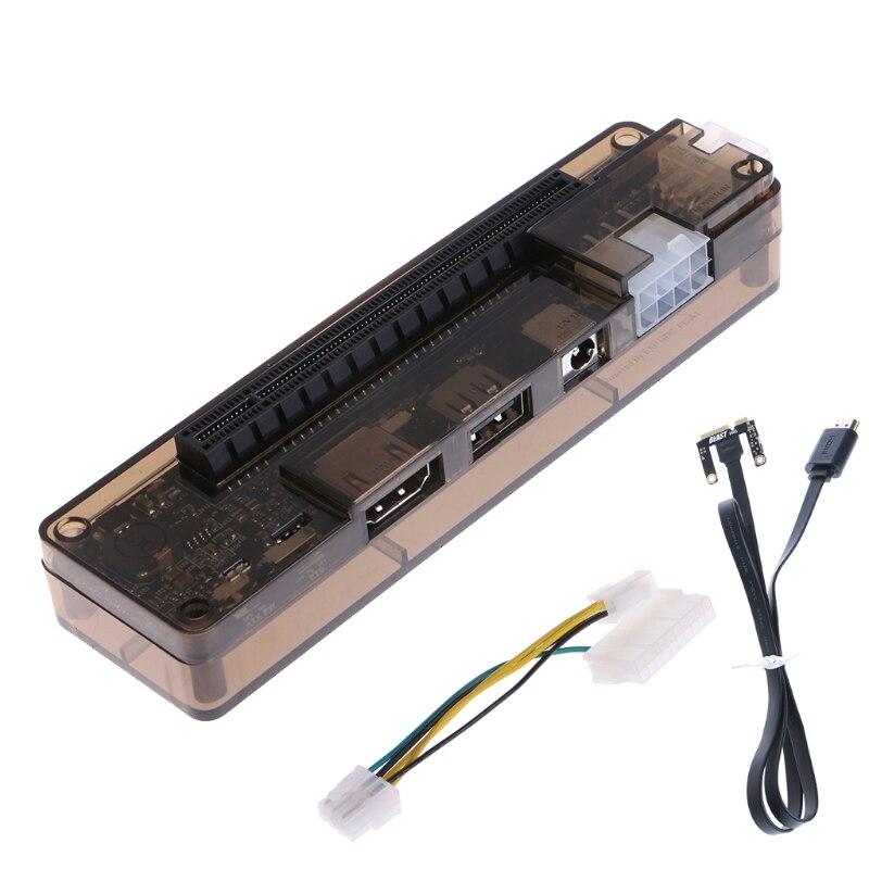 PCIe PCI-E V8.4D EXP GDC External Laptop Video Card Dock / Laptop Docking Station (Mini PCI-E interface Version) 3