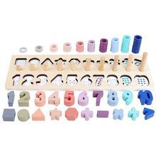 1 набор, креативная цифровая доска соответствия, детские блоки, забавные деревянные блоки, детские игрушки, рождественский подарок