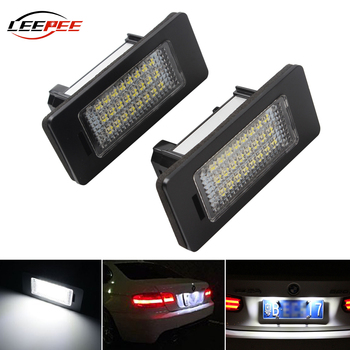 LEEPEE LED For BMW X1 X5 X6 E90 E91 E92 E93 E60 E61 E39 E81 E82 Number Plate Light Super Bright 6000K 3W 24 LEDs Light Source image