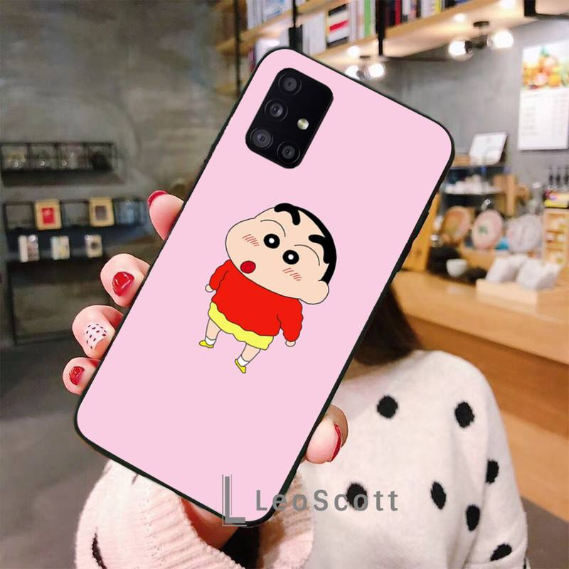 Cute Crayon Shin-Chans Phone Case For Samsung A50 A51 A71 A20E A20S S10 S20 S21 S30 Plus Ultra 5G M11