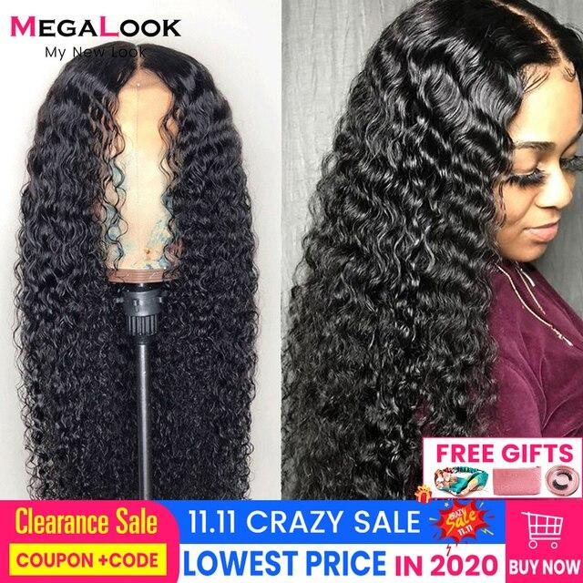 Peruka z mocnymi lokami koronkowa peruka z ludzkimi włosami brazylijska Remy 180 koronkowa peruka na przód 360frontal 30 cali 13x6 głęboka fala kręcone ludzkie włosy peruka