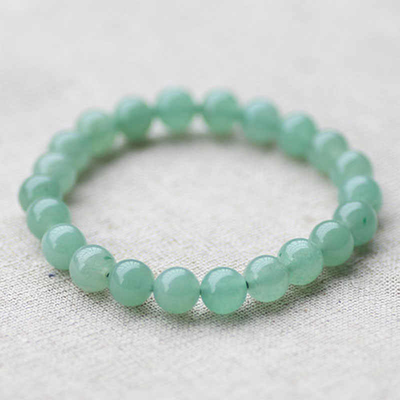STENYA Stretch Bracelet Elastic natural stone Amazonite light green cteated bead expandable jewelry pulseras bracelets diy