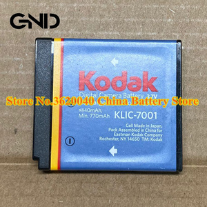 GND 3.7V 840mAh KLIC-7001 Replacement Battery For Kodak V550 V610 V705 M753 M763 M853 camera Li-ion bateria Li-polymer battery