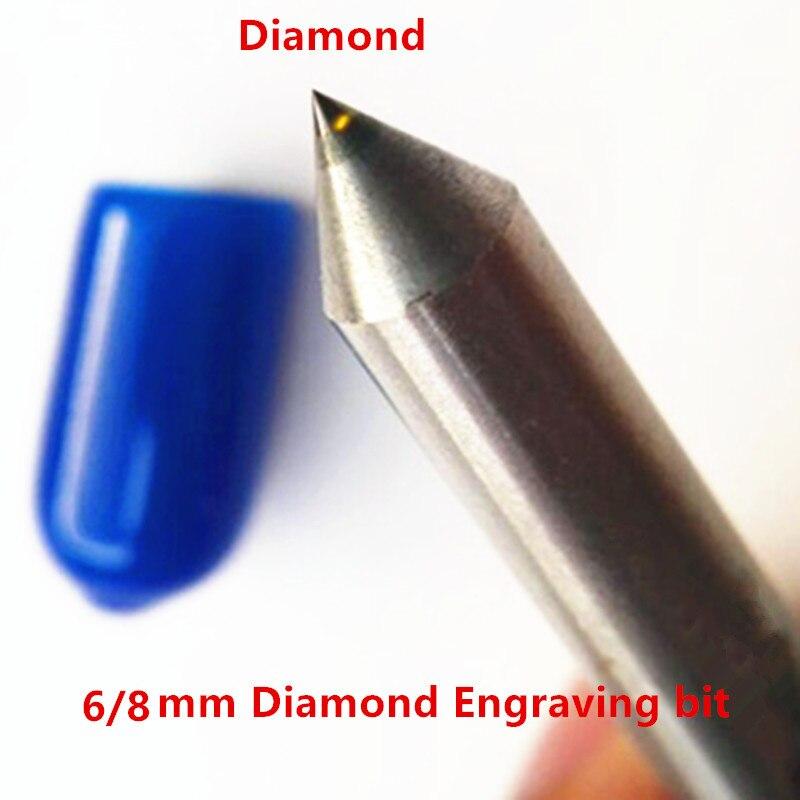 6mm Engraving Pen Tool Diamond Tip Point 8mm Engraving Bit Engraver Cnc Milling Cutter Steel Metal Stone Carving Tools