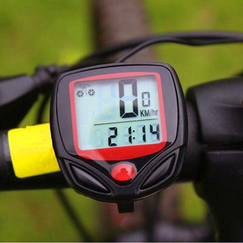 Bicycle Computer Waterproof MTB Bike Odometer Stopwatch Speedometer LED Digital Rate Mileage Recording Bicycle Accessories