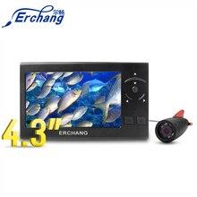 Erchang рыболокатор подводная камера для подледной рыбалки 8 шт. Белый светодиодный 4,3 дюймов монитор камера комплект HD 1000TVL