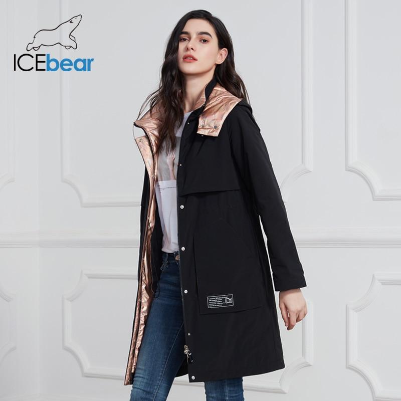 ICEbear 2020 New Women Coat Long Women Jacket Quality Women Coats Fashion Casual Women Clothing Brand Women Clothing GWC20727I