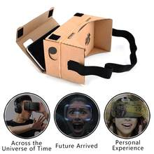 Ultra Clear Virtual Reality VR Glasses 3D VR Cardboard Box Magic Glasses Style For iPhone Samsung Mobile Phone(China)