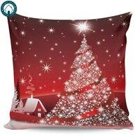 Feliz natal árvore padrão capas de almofada capa almofada fronha impressão quadrada