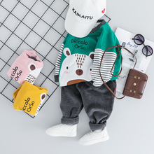 2019 New 2019 Autumn Baby Boys Girls Clothes Suits Toddler Infant Clothing Sets Cartoon T Shirt Pants Children Casual Costume new 2016 autumn children wear suits baby girls boys clothes sets camouflage color cotton coat t shirt pants infant casual suits