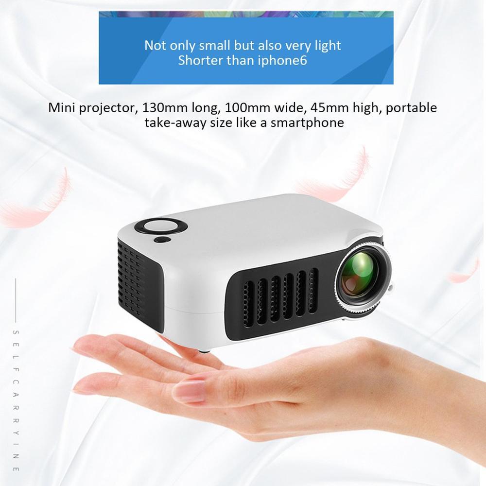 HD 1080P Мини Портативный карманный проектор кинопроекторы Домашний кинотеатр HDMI развлекательная проекция - Цвет: EU Plug