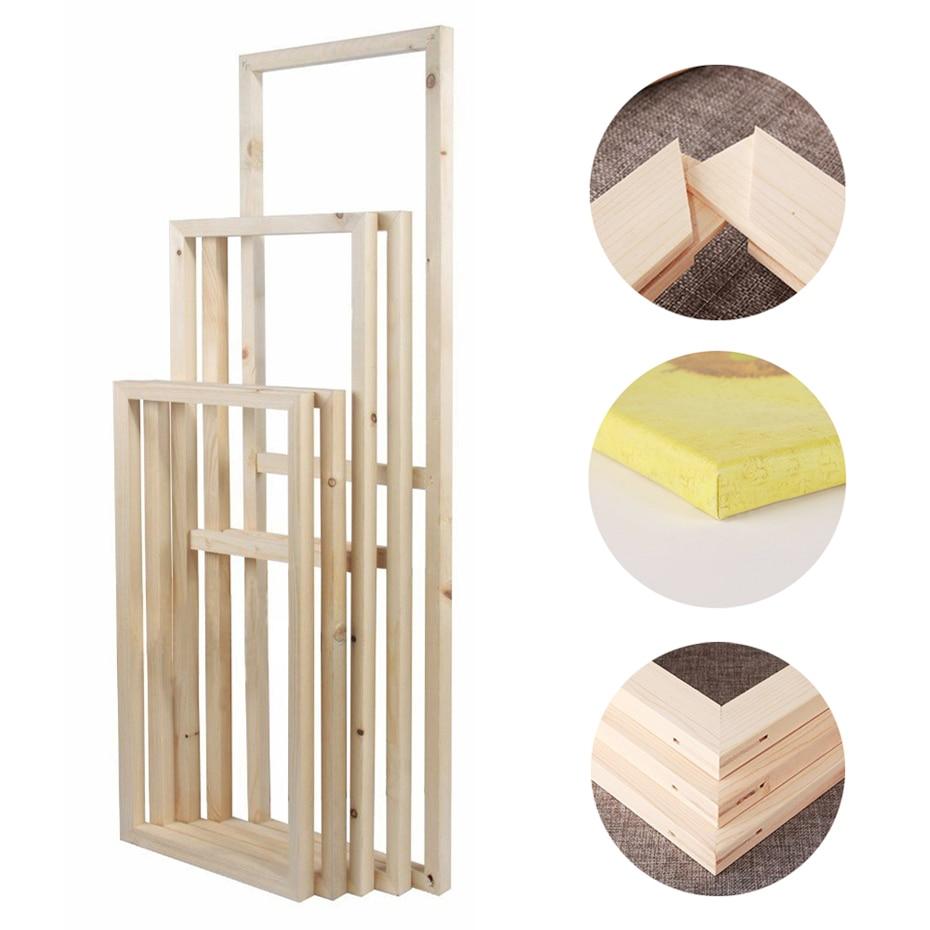 4X Natural Wood Tenon Strip Inner Frame for Oil Diamond Painting Wall Art Decor