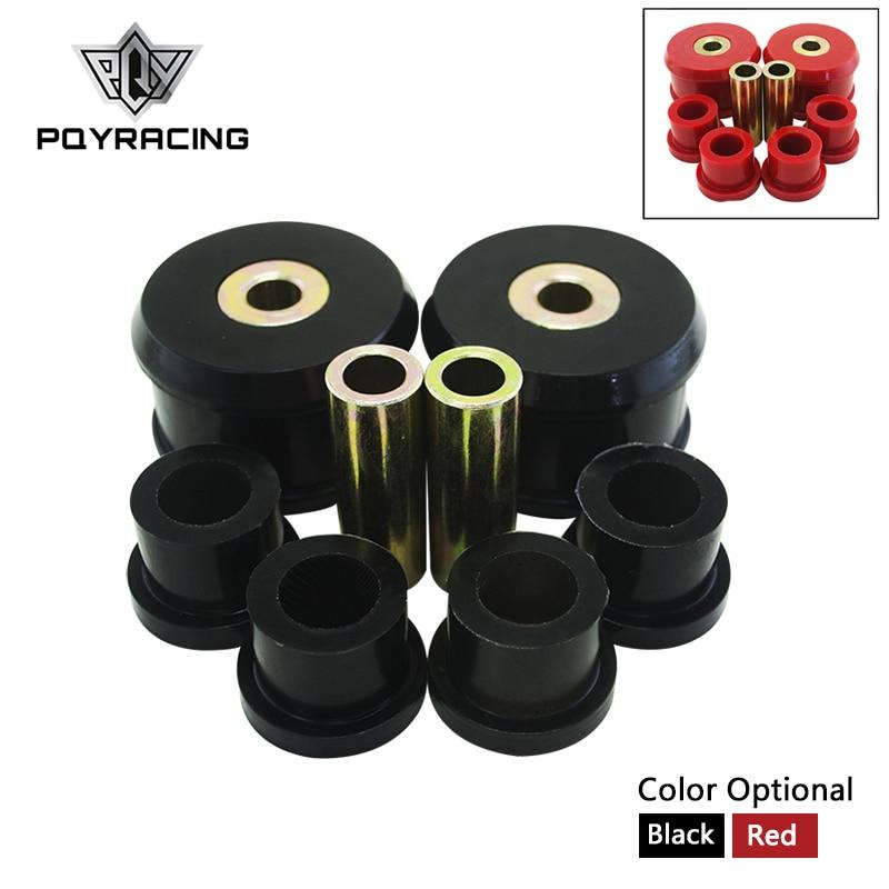 Przednia tuleja wahacza poprzecznego zestaw do vw Beetle 98-06/Golf 85-06/Jetta 85-06 poliuretan czarny, czerwony PQY-CAB01