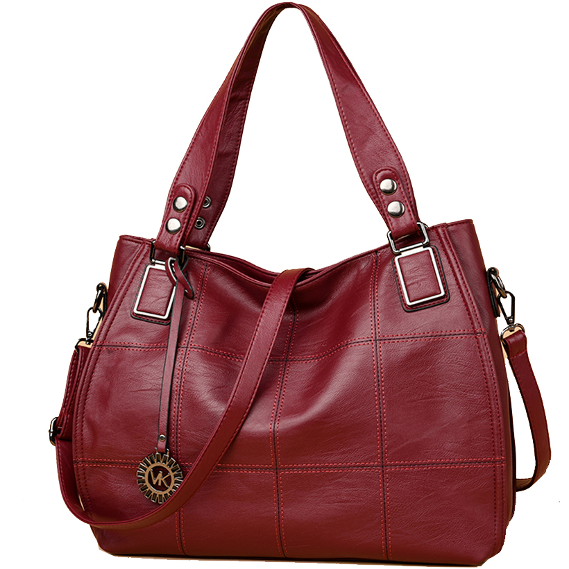 women leather handbags black large luxury soft leather tote bag purple red ladies handbags quilted vintage big handbag crossbody