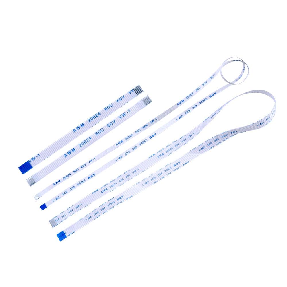 10 шт 6P линия длиной 6 см-40 высота каблука 10 см, каблук 15 см, 20 см, 25 см плоский гибкий кабель FFC FPC ЖК-дисплей кабель AWM 20624 80C 60V VW-1 шаг 0,5 1,0 мм