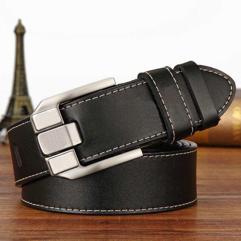 Fashion mens belts casual luxury strap male genuine leather belt men High quality cowhide retro buckle belt new design Belts man
