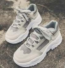 Кроссовки женские на платформе Повседневная дышащая обувь шнуровке