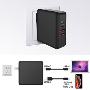 Image 3 - 3 في 1 USB للهاتف المحمول شاحن متعدد ميناء 61 واط PD QC3.0 محمول شحن سريع محول الطاقة قفص الاتهام شحن سريع PD18W الولايات المتحدة/الاتحاد الأوروبي/المملكة المتحدة التوصيل