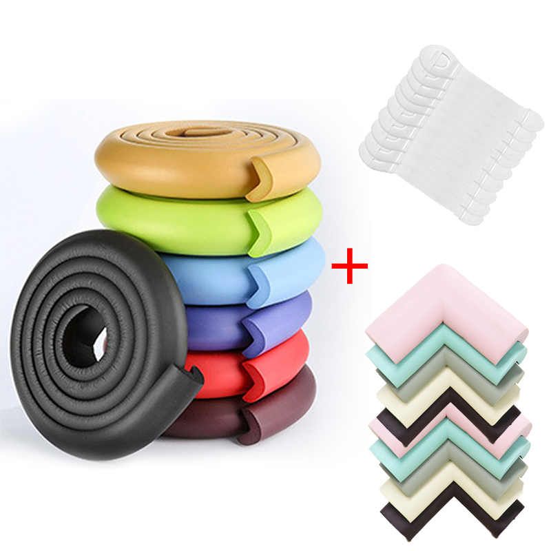 4M+8pcs Baby Safety Proofing Edge Corner Guards Desk Table Corner Protector Children Protection Furniture Bumper Corner Cushion