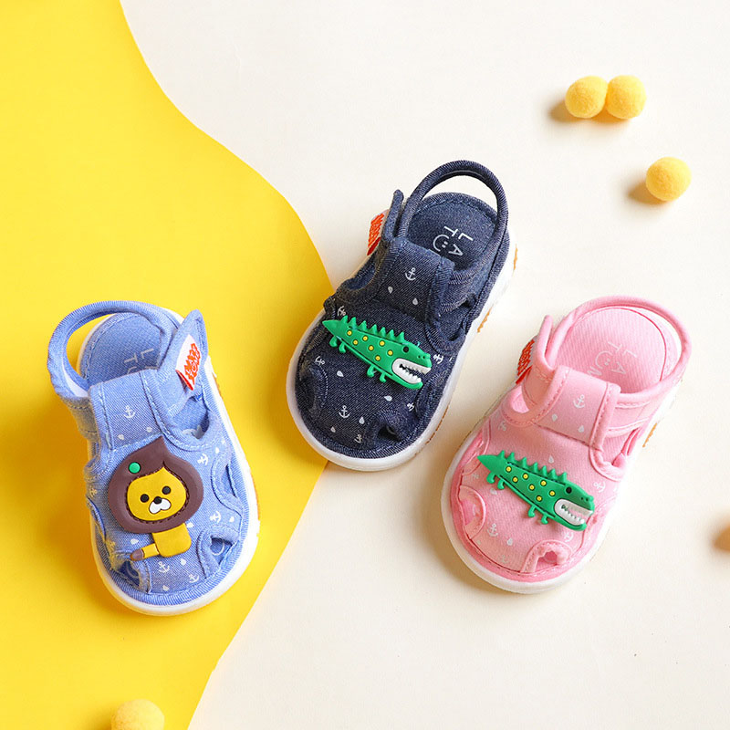 Baby Shoes 2019 Fashion Summer Baby First Walk Children Shoes Leather Baby Girls Shoes Bottom Cute Cartoon Kid Baby Boy Shoes