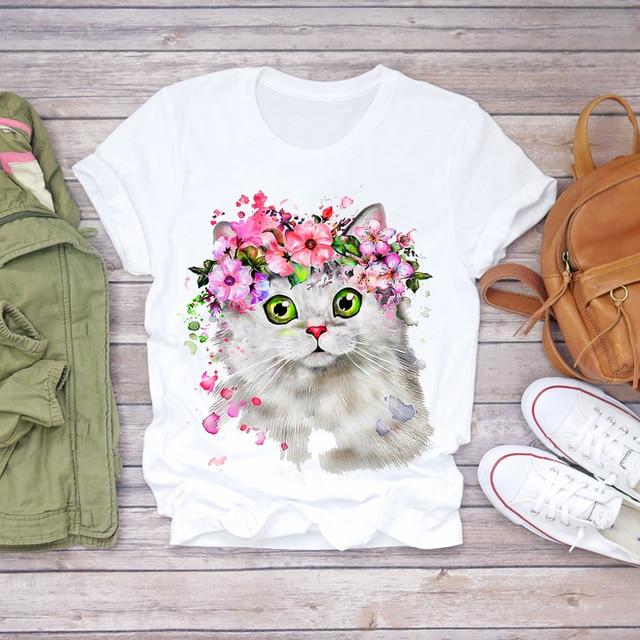 Фото футболка женская с графическим принтом повседневный топ коротким цена