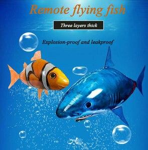 Image 5 - Balão de controle remoto, balão de tubarão grande com controle remoto, inflável, para natação, animal, de palhaço, tubarão