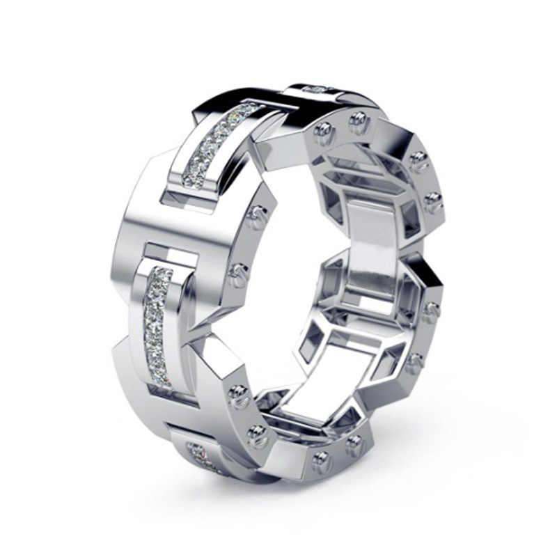Solo Xu Nuovo Stile Creativo Placcato In Argento 925 Set di Diamanti Anello Europa E in America 14k Rose Gold Anelli di Fidanzamento gli uomini E Le Donne-