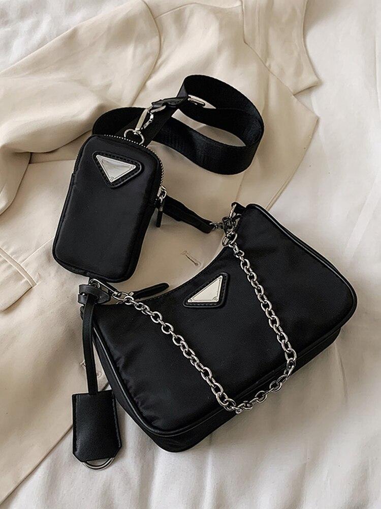 Luxury Handbags Messenger-Bag Pocket Crossbody-Bags Shoulder Female Designer Mini Women