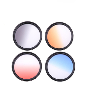 Suitable for Canon Nikon Sony SLR Camera Universal Thread Gradient Gray Blue Orange Red Filter Color Rendering Synergist image