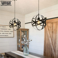 Nordic Vintage Simple Industry Iron Chandelier Creative Cool Hallway Aisle livingroom Restaurant Bar Light Globe Chandelier Lamp