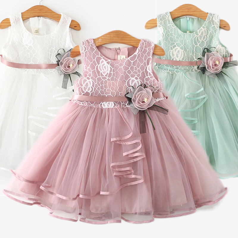 Summer Girls Clothes Flower Little Princess Dress Children Casual Clothing Tutu Birthday Party Girl Baby Tulle Costume Vestidos