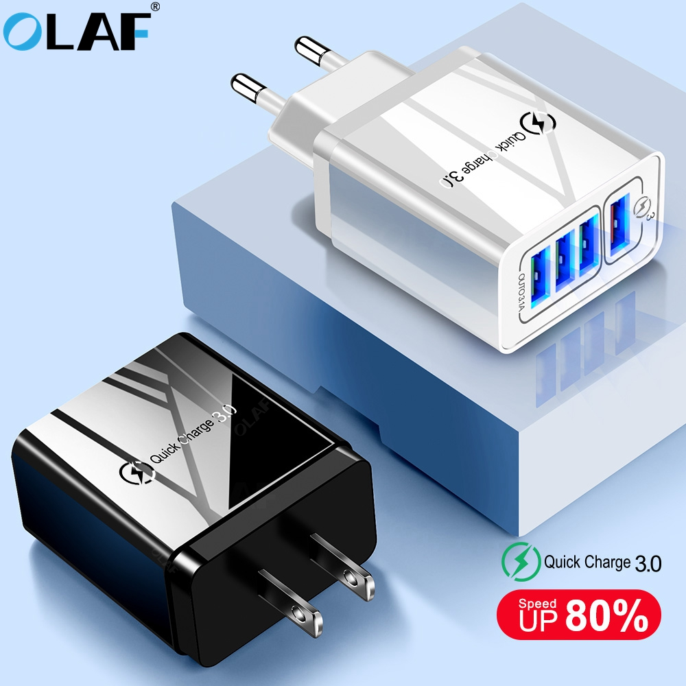 OLAF Usb-Charger QC3.0 4-Port Xiaomi Mi9 Samsung S10 iPhone X for S9 Eu/us/Uk