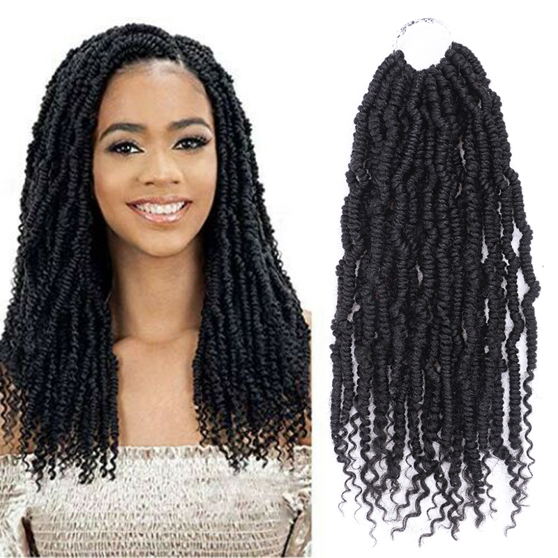 Black Star 14Inch 24 Strands/pack Bomb Twist Crochet Hair Braiding Hair Passion Spring Twists Synthetic Crotchet Hair Extension